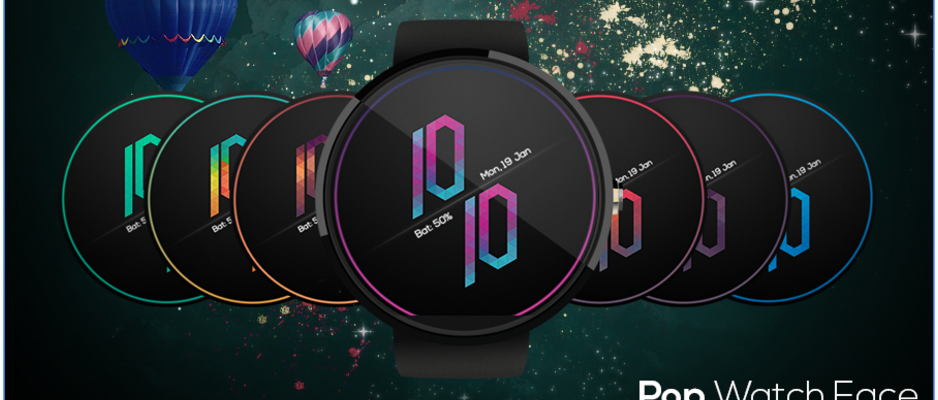 Pop Watch Face Farben