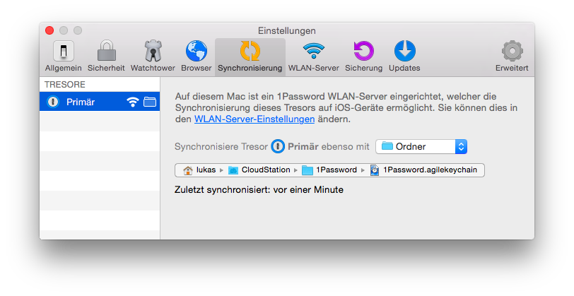 1password-einstellung